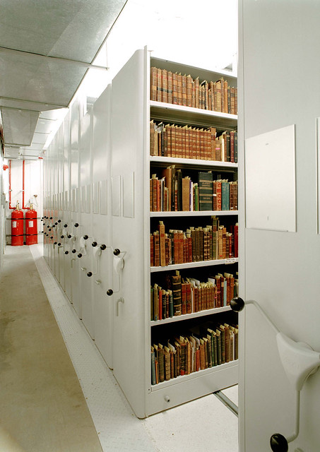 Dublin City Library and Archive - rolling shelves