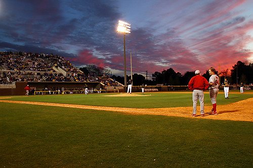 sunset sky sports clouds canon landscape evening athletics baseball dusk scenic northcarolina neat ballpark 2007 ecu greenvillenc ecustate