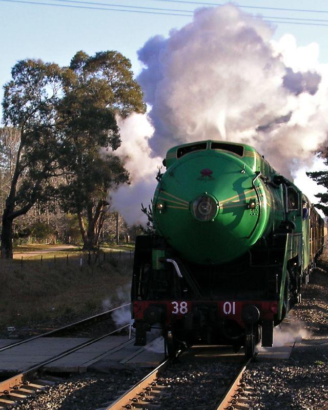 Steam Engine 3801 at Burradoo by Brett Matthews