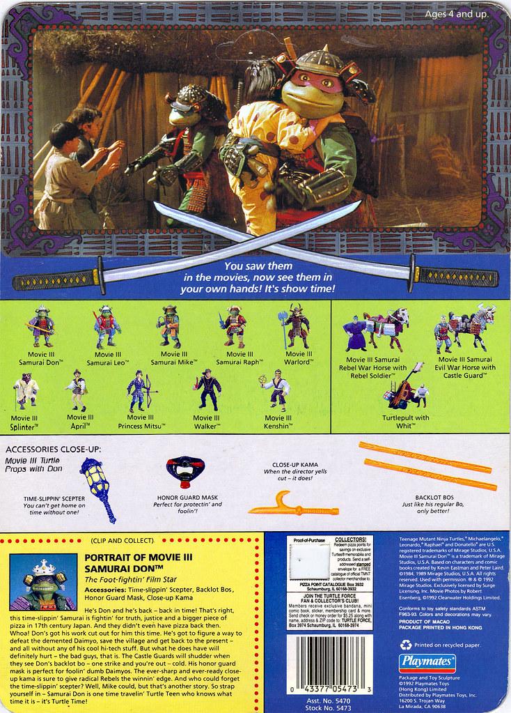 1993 *** MOVIE III 3 DON DONATELLO 2 *** TEENAGE MUTANT NINJA TURTLES TMNT Film, TV & Videospiele