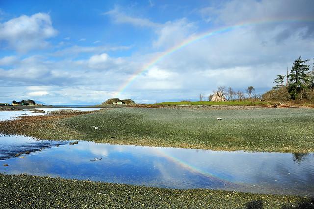 under the rainbow  . . .