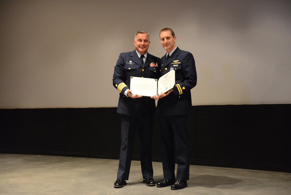 Coast Guard pilot receives Distinguished Flying Cross in K