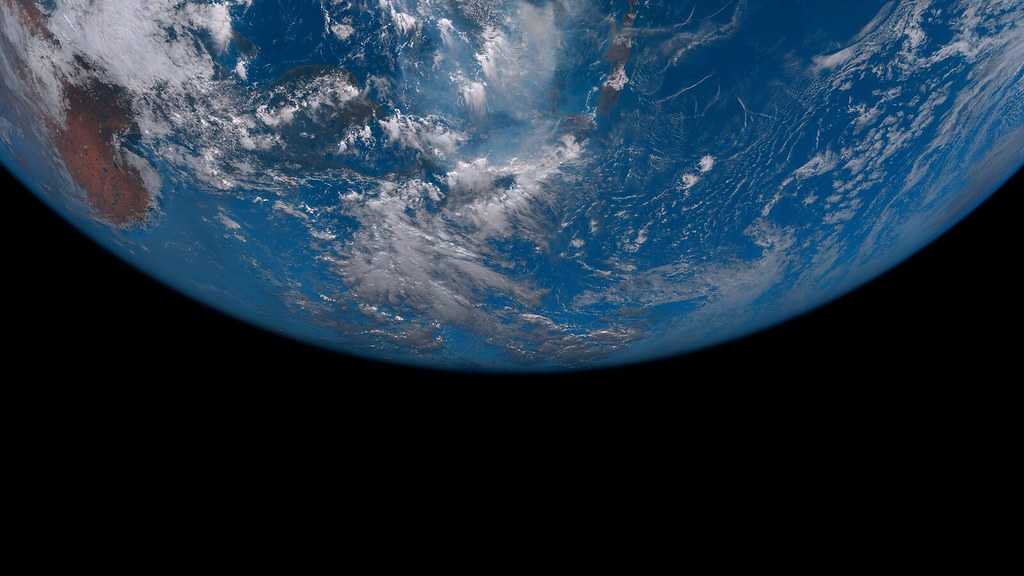 Earth Terminator from Space by Japan's Himawari 8 Weather