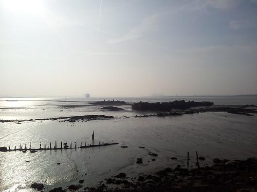 Walk 209 Higham to Gravesend -Thames estuary near Cliffe Fort