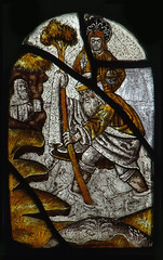 St Christopher, Christ child and hermit