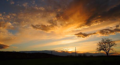 sunset sky sun sunlight nature clouds landscape ciel nuages paysage contrejour coucherdesoleil cielbleu