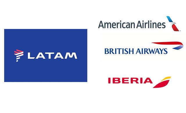 LATAM Airlines JV American JV IAG (logos compañías aéreas)