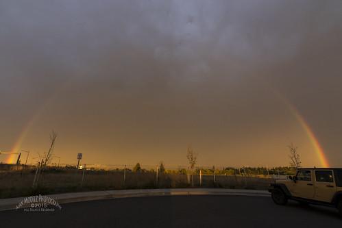 sky usa storm rain fog clouds sunrise washington rainbow sunup ridgefield 2015