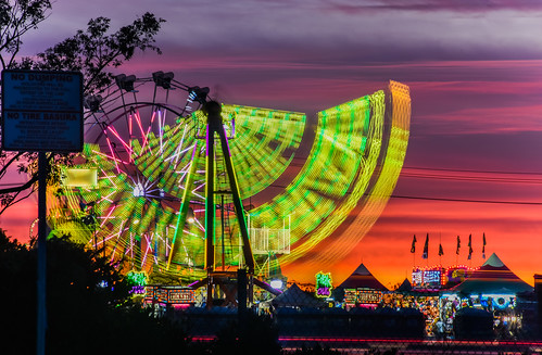 california carnival sunset sky orange motion color silhouette oakland nikon ride fair spinning bayarea eastbay february alamedacounty 880 2016 lightstream boury pbo31 d810