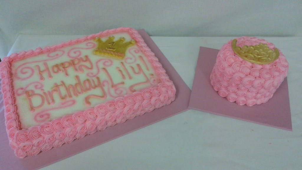 Admirable 1St Birthday Princess Cake And Smash Cake Taste Of Love Flickr Funny Birthday Cards Online Alyptdamsfinfo