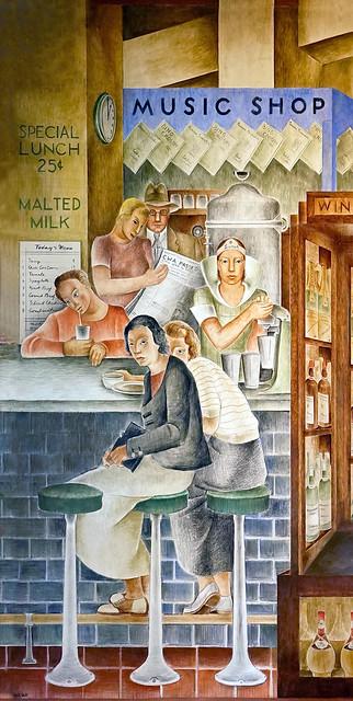 Coit Tower murals - Department Store by Frede Vidar