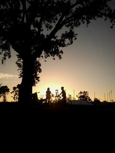 sunset silhouette wanderlust biking hangingout enjoyingthesun energypark sunsetporn mobilephotography eyeemphilippines ccgeneralephotos