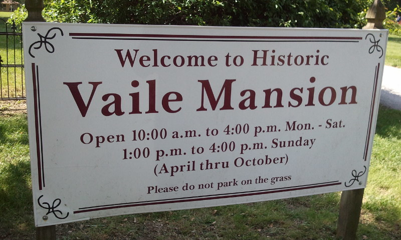 Vaile Mansion Sign