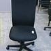Black metal swivel chair