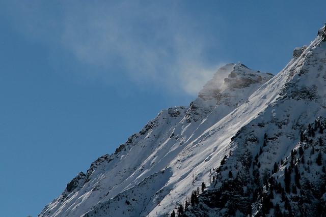mountain, wind & snow