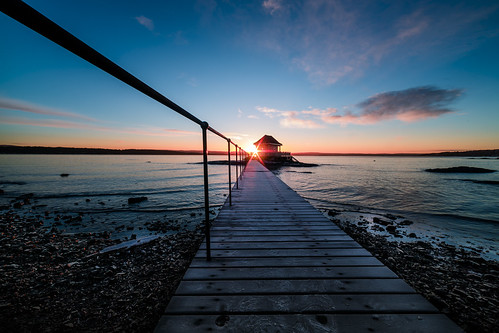 ocean sky sun seascape color beach water oslo norway architecture clouds sunrise landscape star bay pier norge colorful akershus fornebu bathhouse canon5dmarkiii samyang14mm