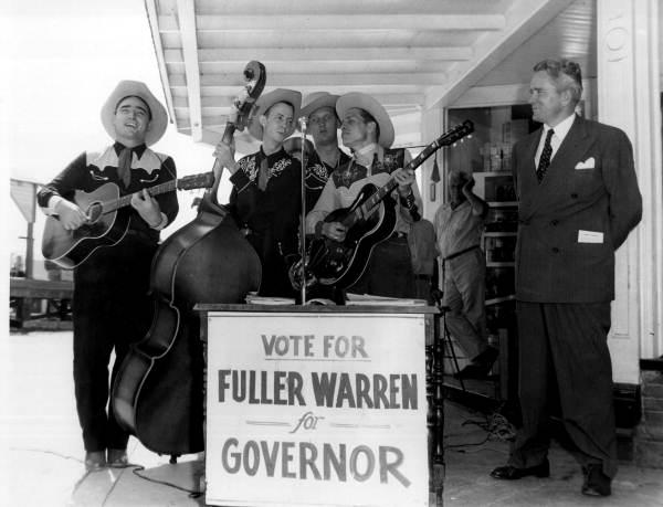 Musicians performing during Fuller Warren's gubernatorial campaign