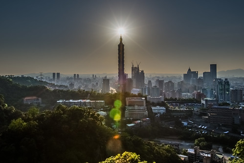 city sunset urban building horizontal skyline skyscraper canon landscape day glow cityscape outdoor capital taiwan nopeople landmark clear 101 sunburst taipei101 台灣 sunbeam hdr 風景 台北101 1635mm 虎山 canoneos5dmarkiii diamond101 鑽石101
