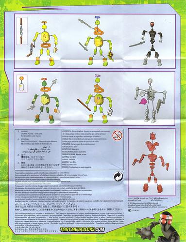 MEGA BLOKS ::  Nickelodeon TEENAGE MUTANT NINJA TURTLES ::  Micro Action Figures Series I, instructions v.1 B (( 2016)) by tOkKa