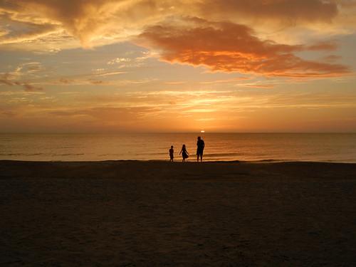 ocean family sunset sky cloud beach gulfofmexico silhouette florida bonitasprings 2015