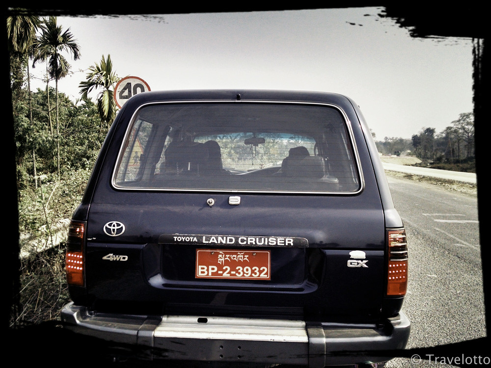 Our Bhutanese land cruiser for the road tripping journey into the thunder land