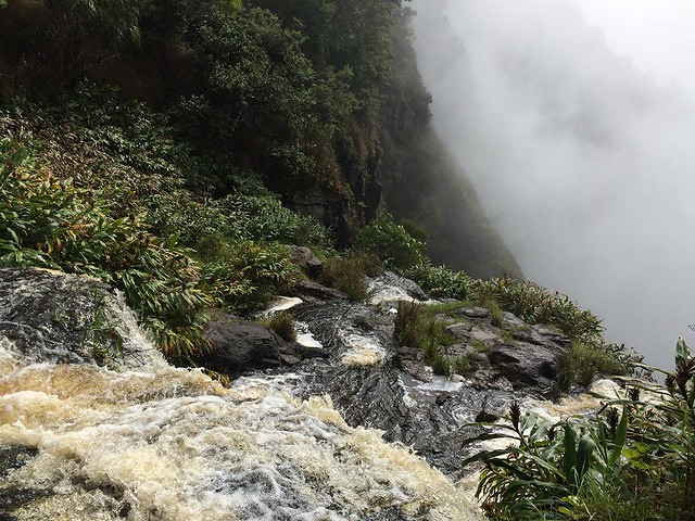 The top of Waipo'o Falls