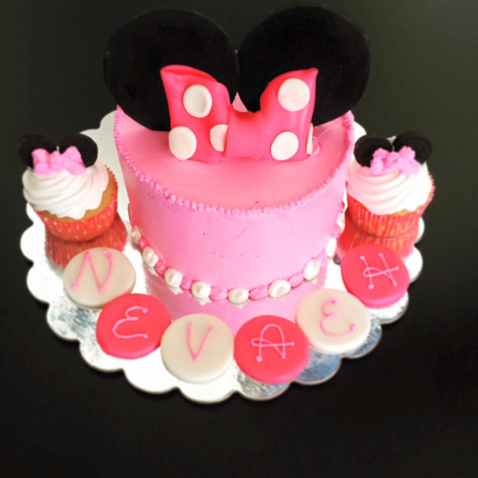 Peachy Minnie Mouse Cake Pittsburgh Pa Birthdaycakes4Free Flickr Funny Birthday Cards Online Alyptdamsfinfo