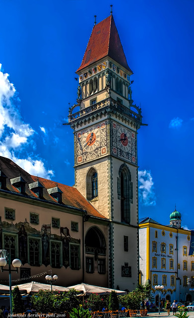 Der Rathausturm des Alten Rathauses in Passau