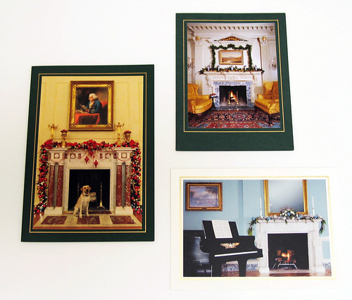 Selection of holiday cards sent by Secretaries Powell, Rice, and Kerry (clockwise from top)