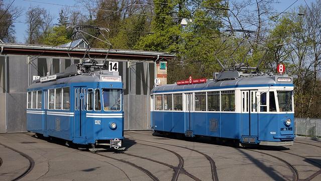 Tram Museum Zürich - Ce 4/4 1392 und Ce 4/4 1530