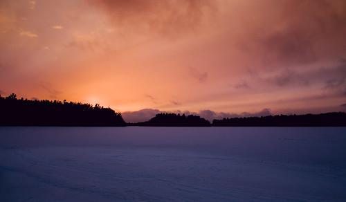 winter sunset snow poconos lakenaomi poconopines lakenaomiclub