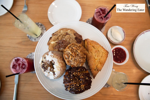 Brunch pastry platter and our house made fruit sodas