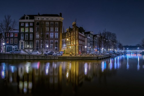 street city longexposure travel urban holland color netherlands amsterdam night view capital canals nikond5300