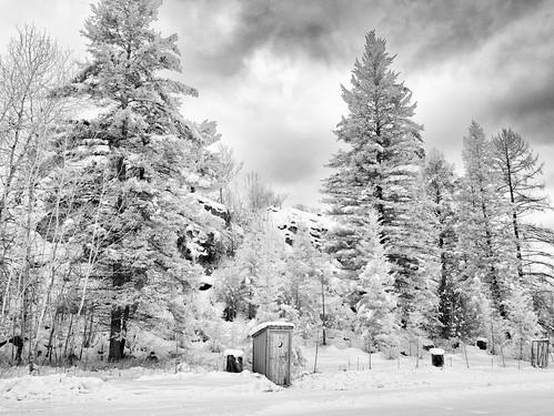 winter bw monochrome landscape ir montana infrared kalispell supercolorir