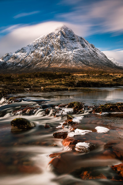 Entrance to GlenCoe guarded by the magnificent Buachaille Etive Mor