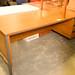 Teak straight desk 3 drawer