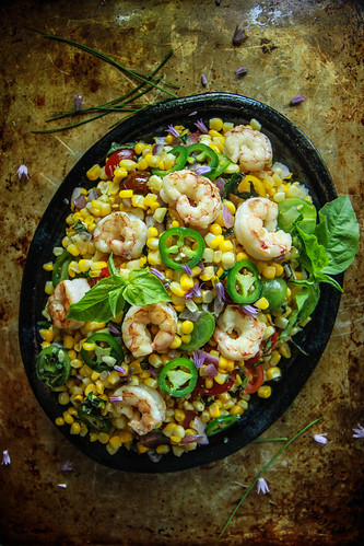 Shrimp and Corn Salad from HeatherChristo.com | by Heather Christo