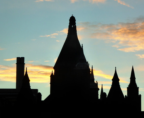silhouette sunrise dawn birmingham towers domes ronaldmcdonaldhouse birminghamchildrenshospital