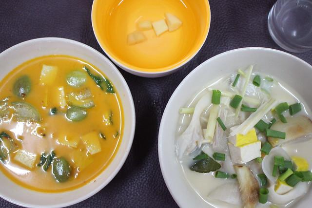 Mijn rode curry en kokosnootoep