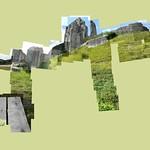 Corfe Castle 2 #corfecastle #dorset #castle #instagrames #instagood #followme #cerisinfield #ceriphotomontage #bench #summer #bluesky