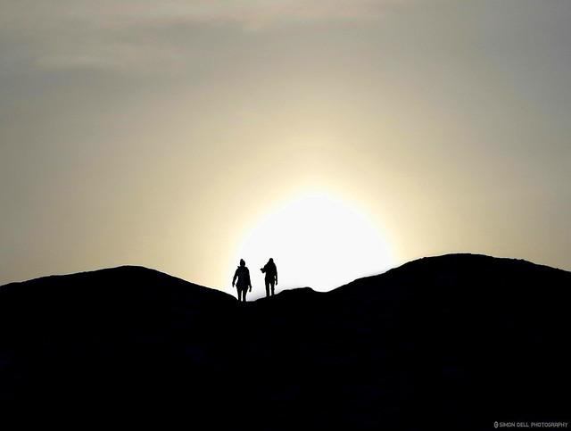 castleton derbyshire landscapes silhouette