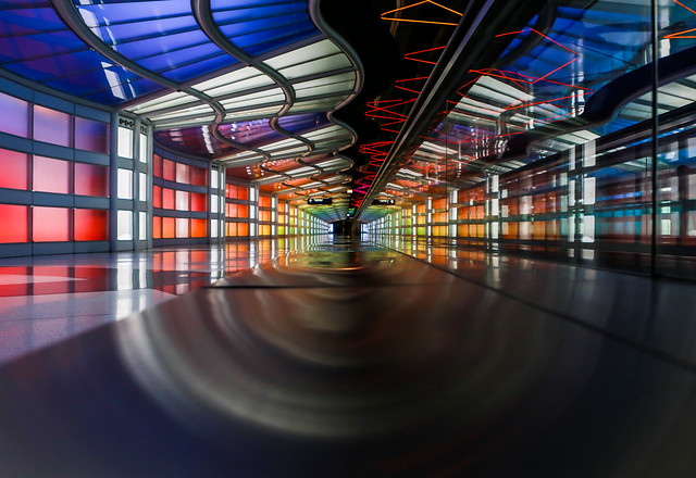 Tunnel of time and color.