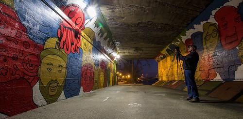 city bridge blue red color green art yellow photography march kent downtown michigan grandrapids 2016 westmichigan kentcounty canon7dmarkii kevinpovenz
