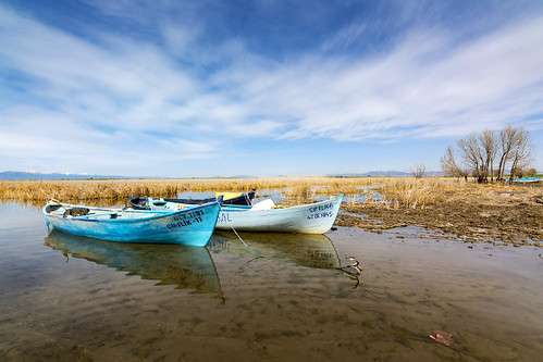 travel blue summer vacation sky cloud lake detail reflection tree green nature water beautiful beauty grass turkey landscape boats boat spring fishing scenery day view natural outdoor background scenic peaceful scene land tranquil konya beysehir