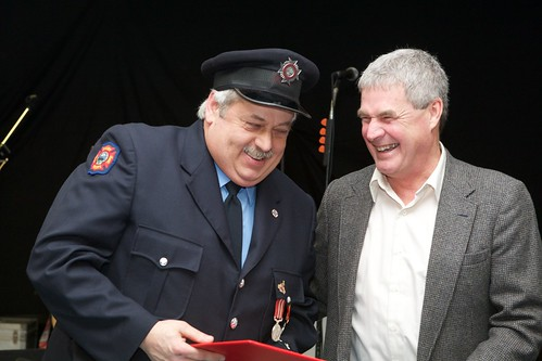Richard Robertson, 30 years of service   by digby fire dept
