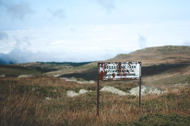 Warnhinweis bei unserer Bergtour zum Schwarzen Gipfel