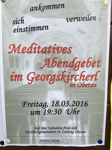 Meditatives Abendgebet im Georgskircherl | by Oberau-Online
