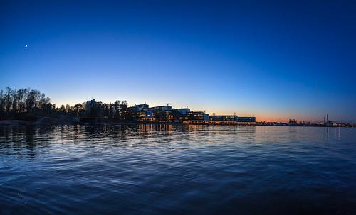 sea night dark landscape prime spring helsinki lowlight nightscape fisheye bluehour 15mm lauttasaari yö kevät laru
