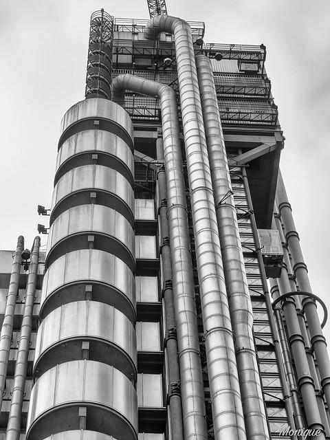 Inside out building. Lloyds. London.