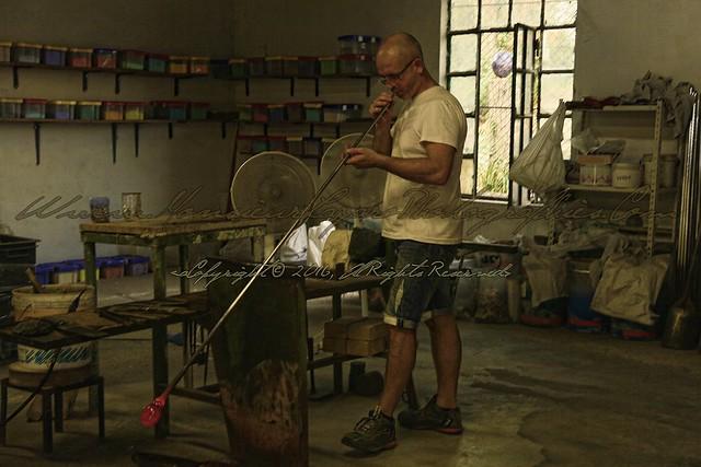 Making Glass in Murano - Italy.